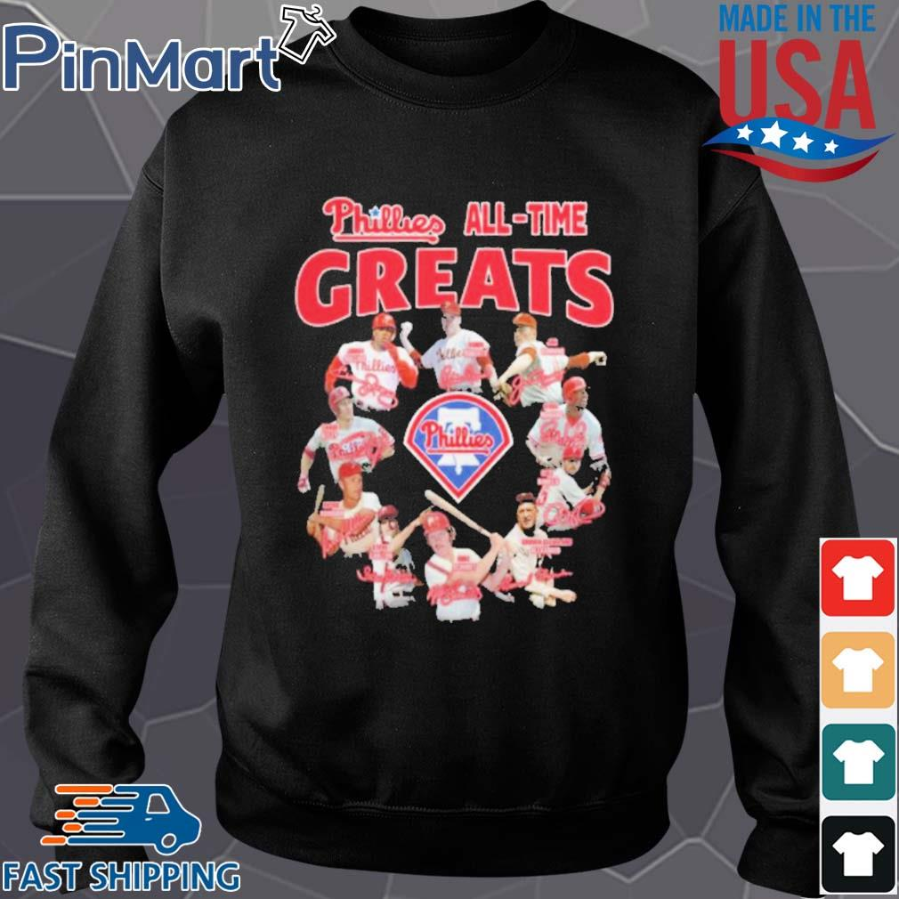 Philadelphia phillies alll time greats signatures s Sweater den