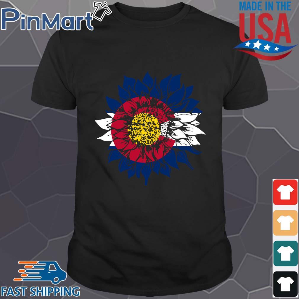 Sunflower Colorado flag shirt