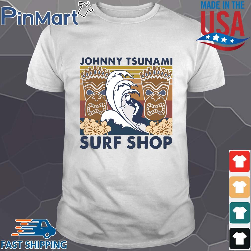 Surfing Johnny tsunami surf shop vintage shirt