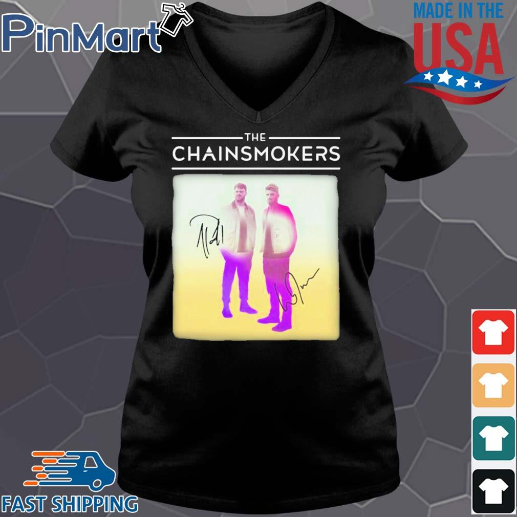 The chainsmokers members signatures s Vneck den