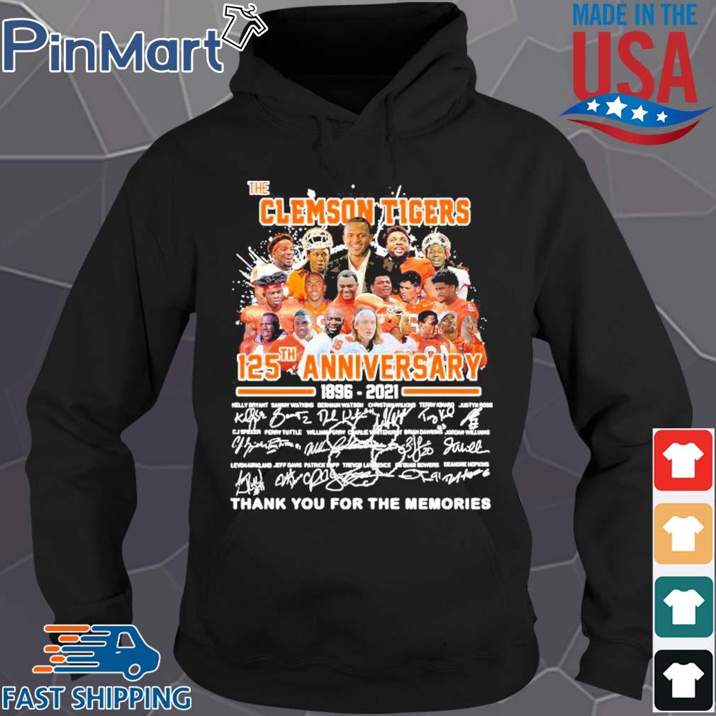 The clemson tigers 125th anniversary 1896 2020 thank you for the memories signatures s Hoodie den