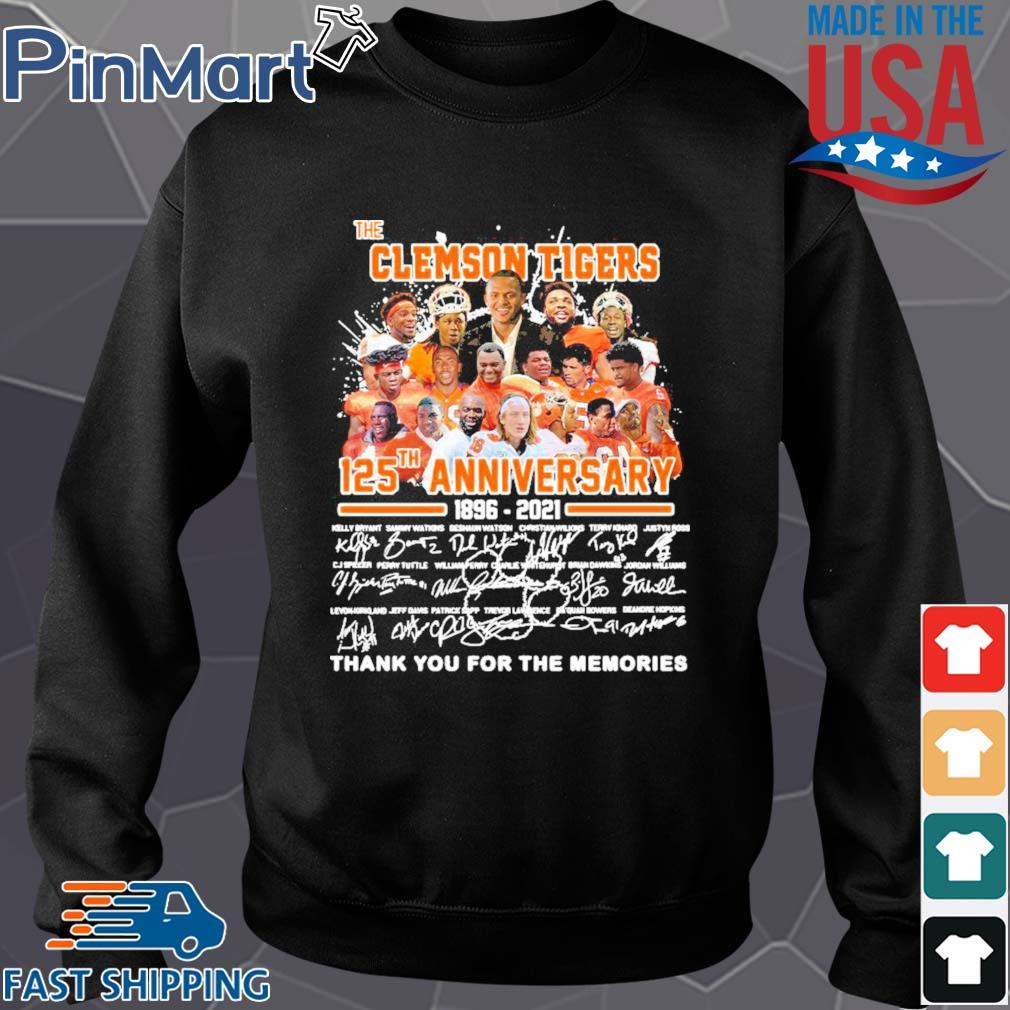 The clemson tigers 125th anniversary 1896 2020 thank you for the memories signatures s Sweater den