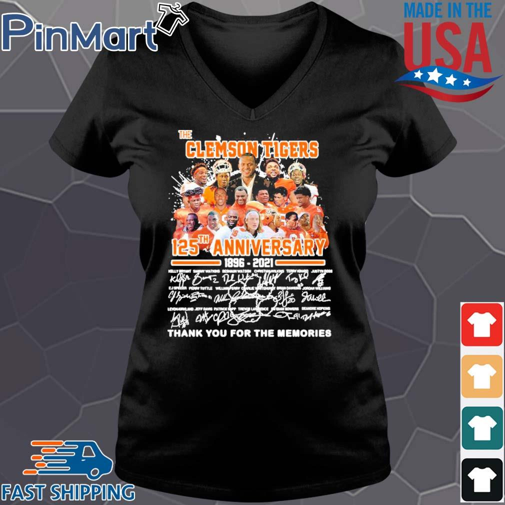 The clemson tigers 125th anniversary 1896 2020 thank you for the memories signatures s Vneck den