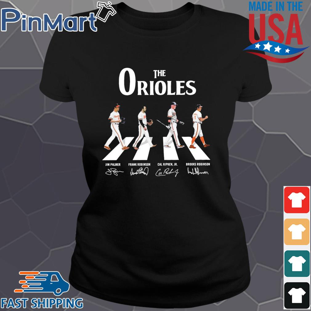 The Orioles walking the abbey road signatures Shirt Ladies den