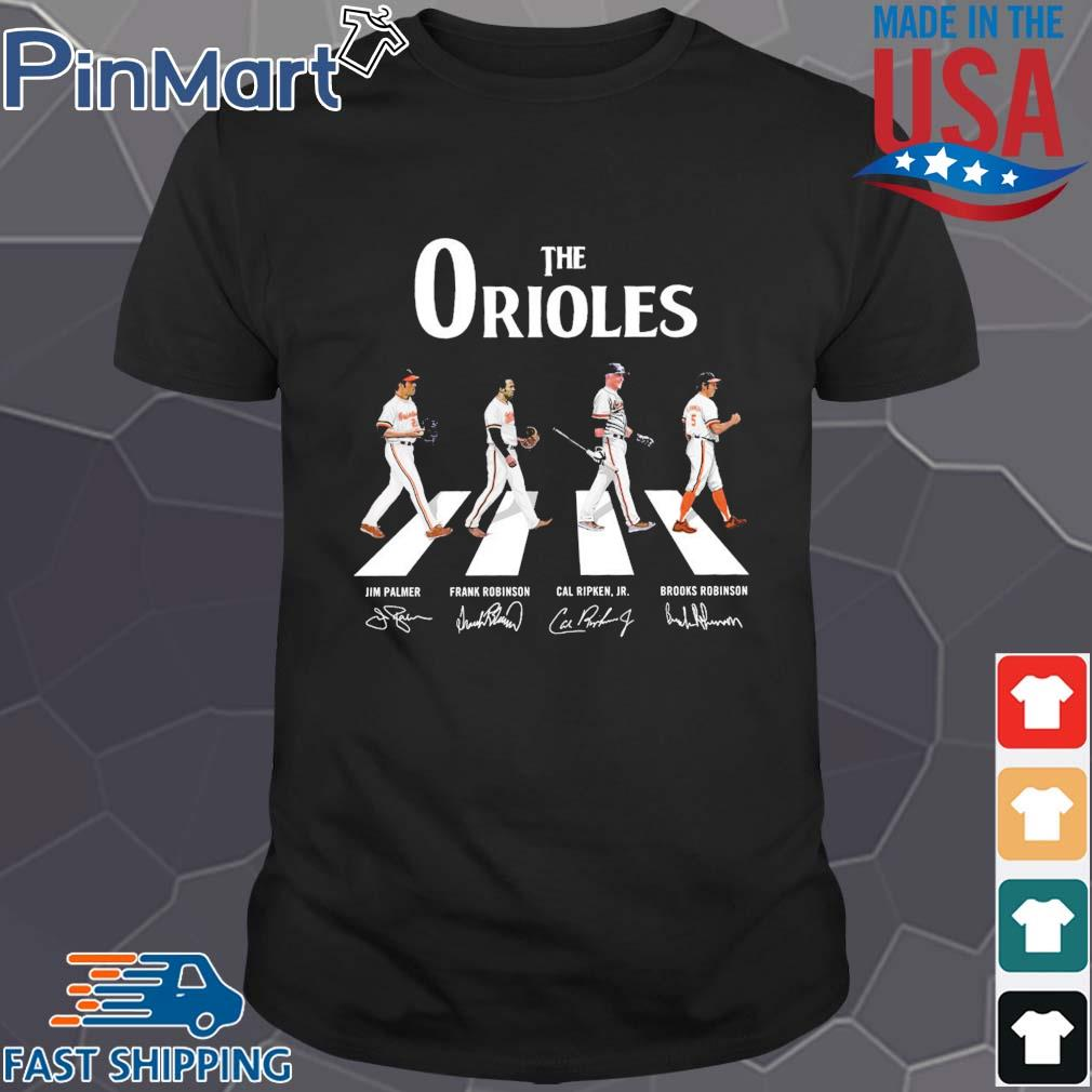The Orioles walking the abbey road signatures Shirt