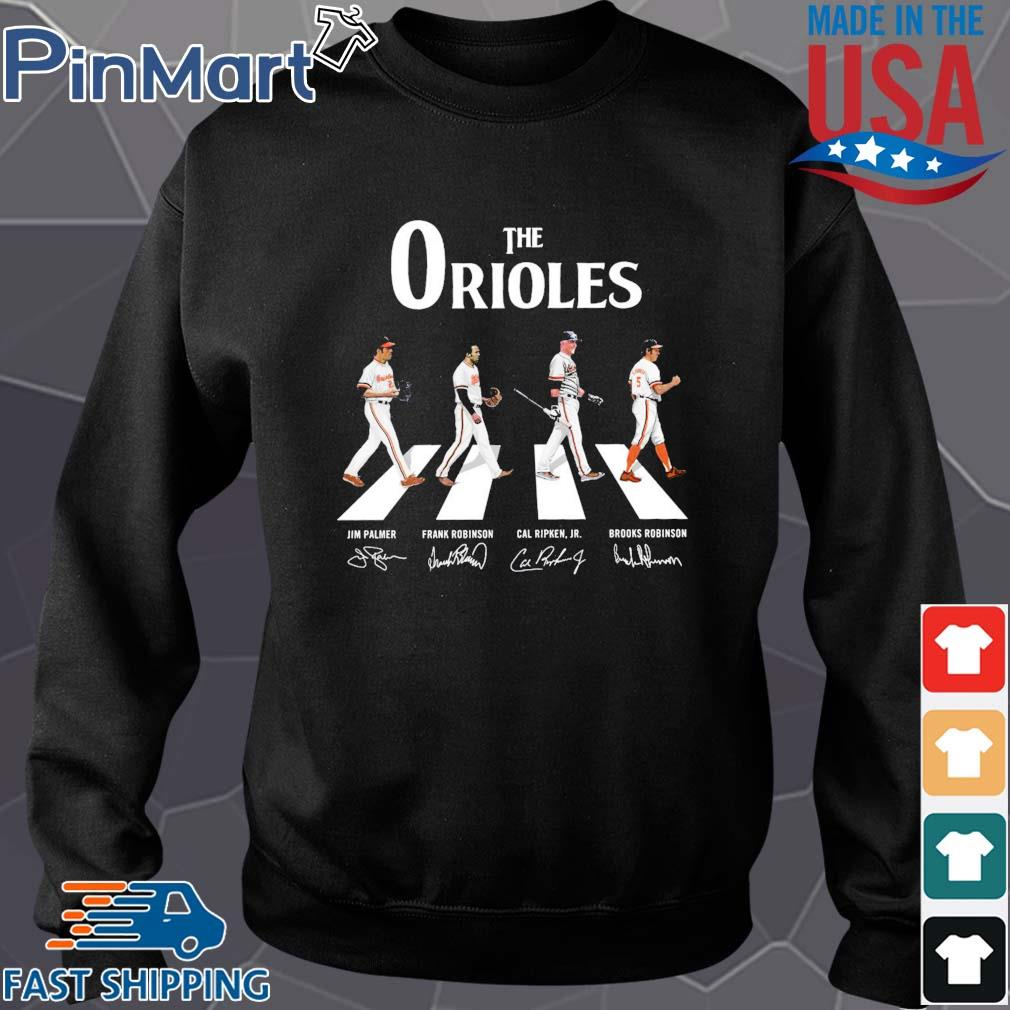 The Orioles walking the abbey road signatures Shirt Sweater den