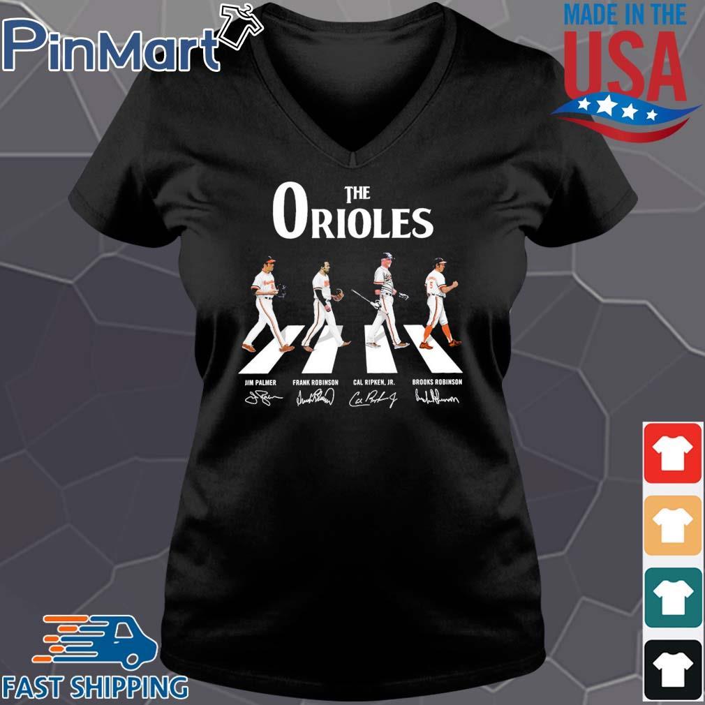 The Orioles walking the abbey road signatures Shirt Vneck den