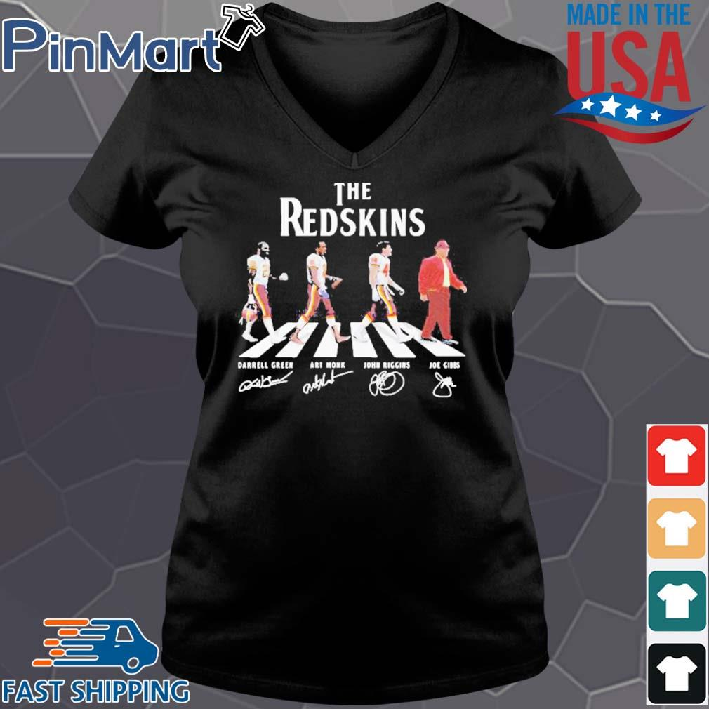 The redskins football abbey road signatures s Vneck den