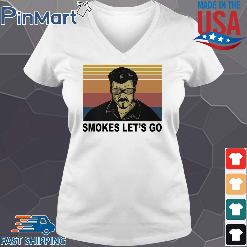Trailer Park boys smokes let's go vintage s V-neck trang