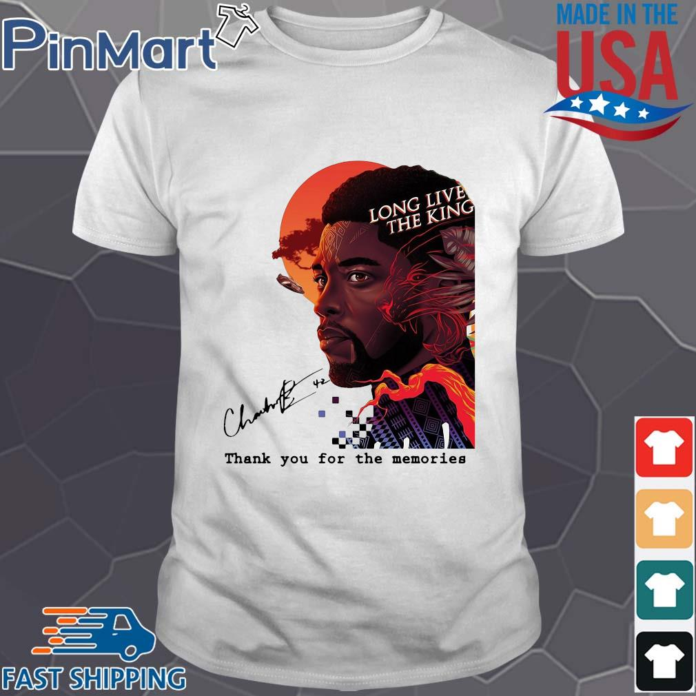 Black Panther long live the king signature thank you for the memories shirt
