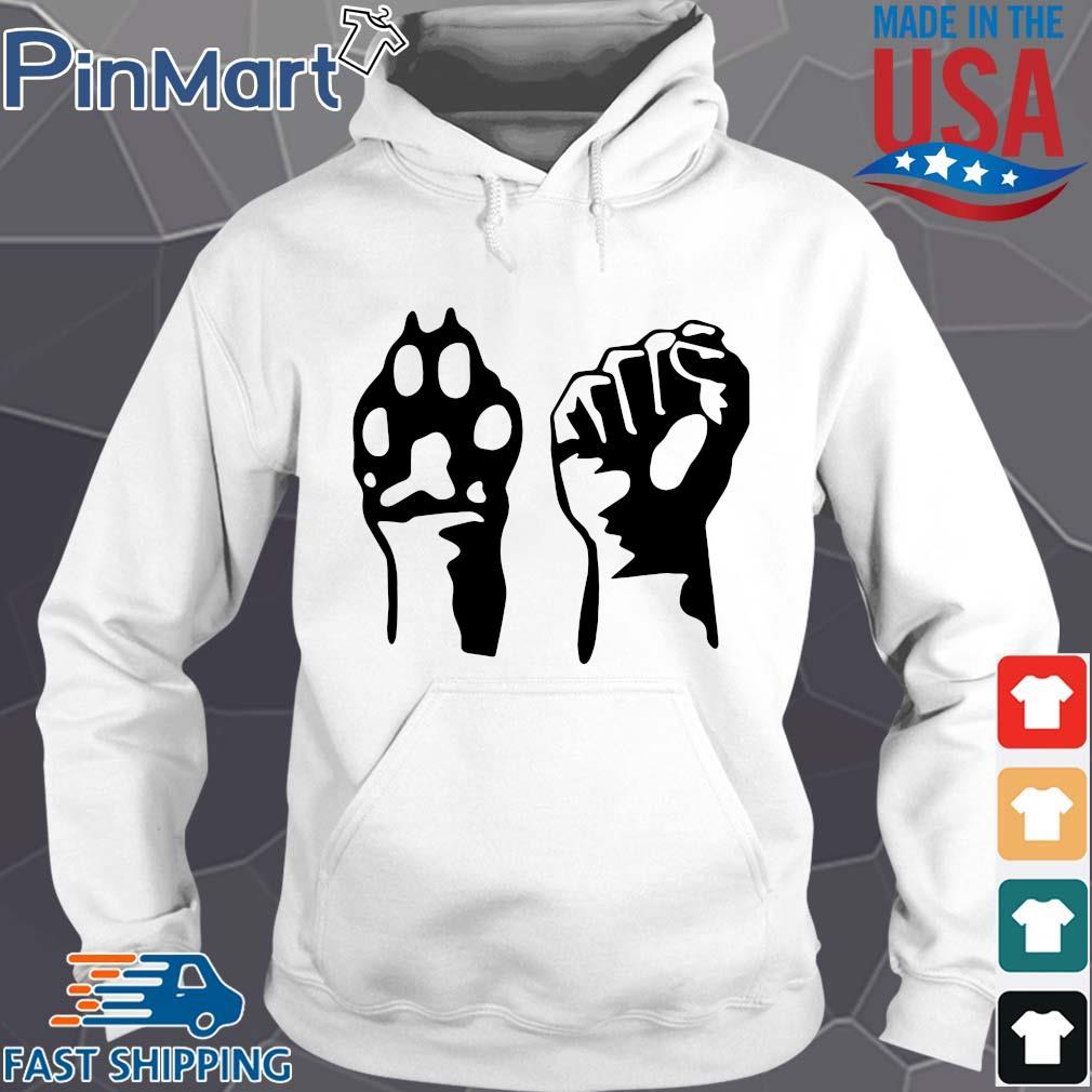 Dog paw human fist animal rights vegan vegetarian s Hoodie trang