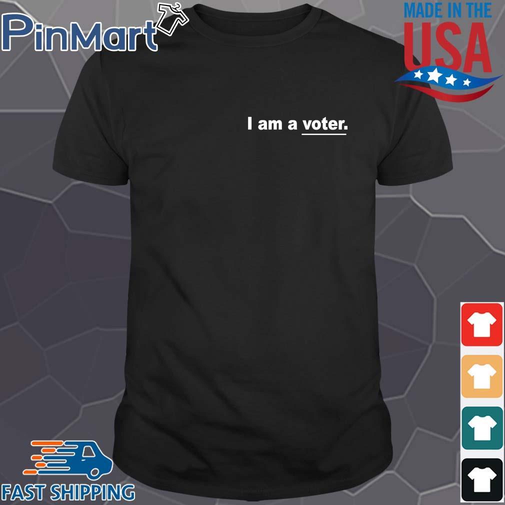 I am a voter tee shirt