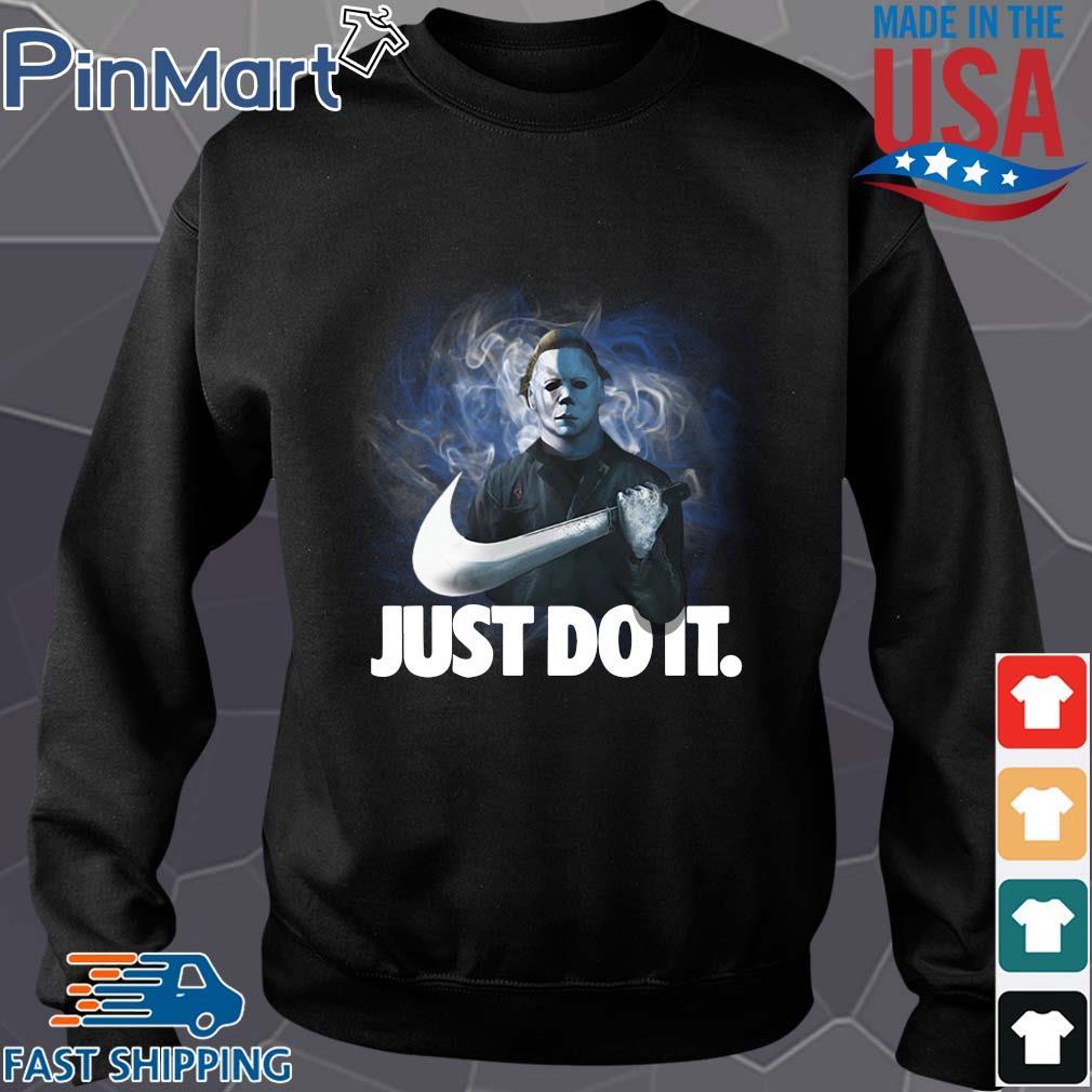 Michael Myers Nike just do it Halloween s Sweater den