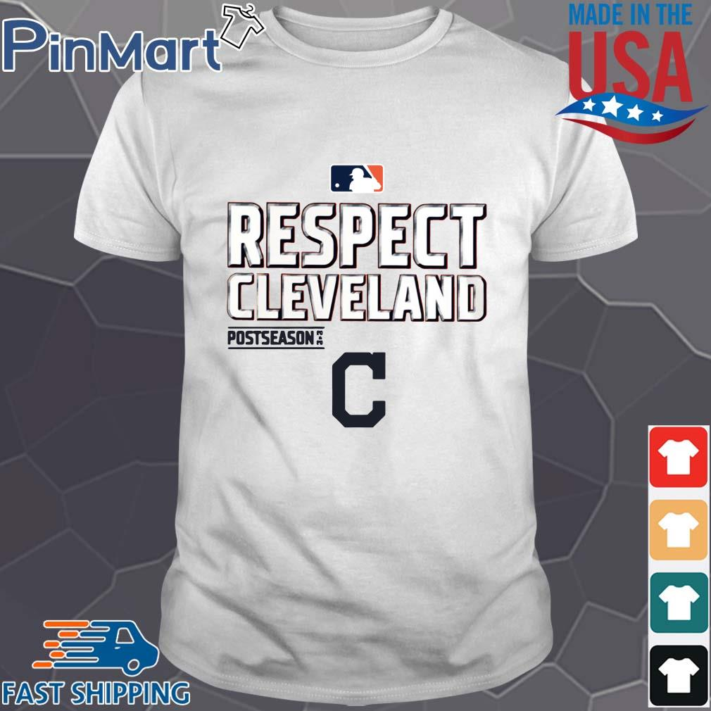 Respect Cleveland Indians Fanatics Branded Red 2020 postseason shirt