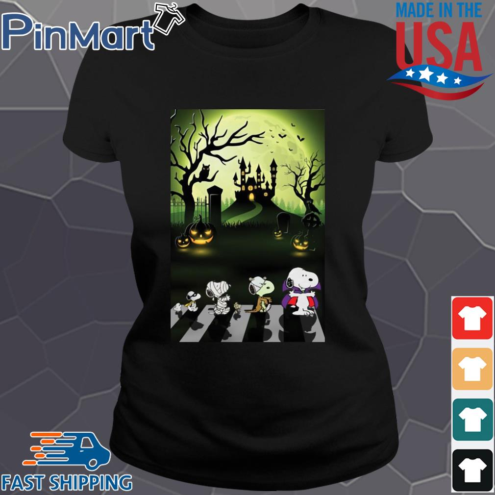Snoopy abbey road Halloween moon s Ladies den