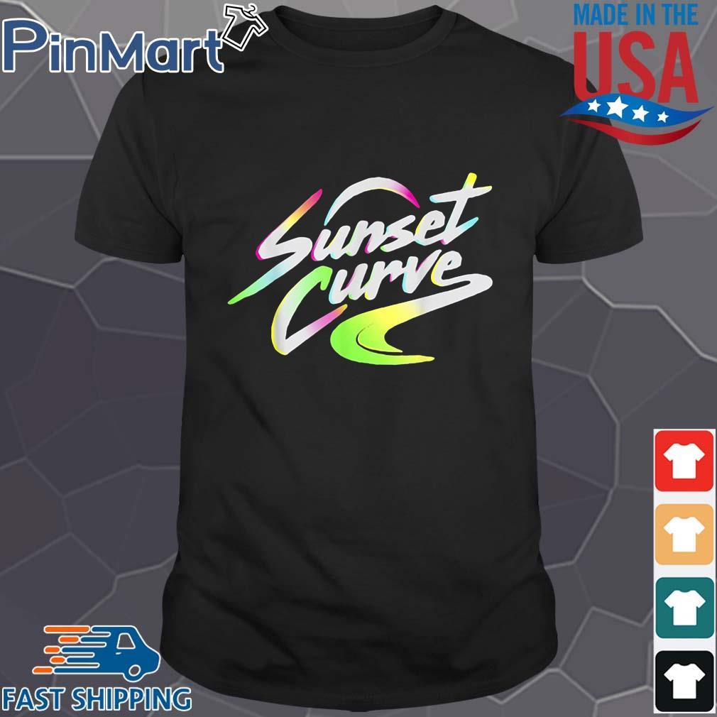 Sunset curve tee shirt