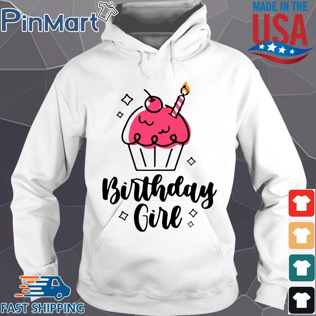 Birthday Queen Cute Cupcake Birthday Shirt Hoodie trang