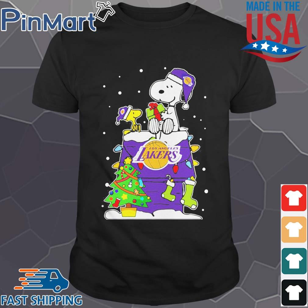 Snoopy Lakers Ugly Christmas Sweatershirt