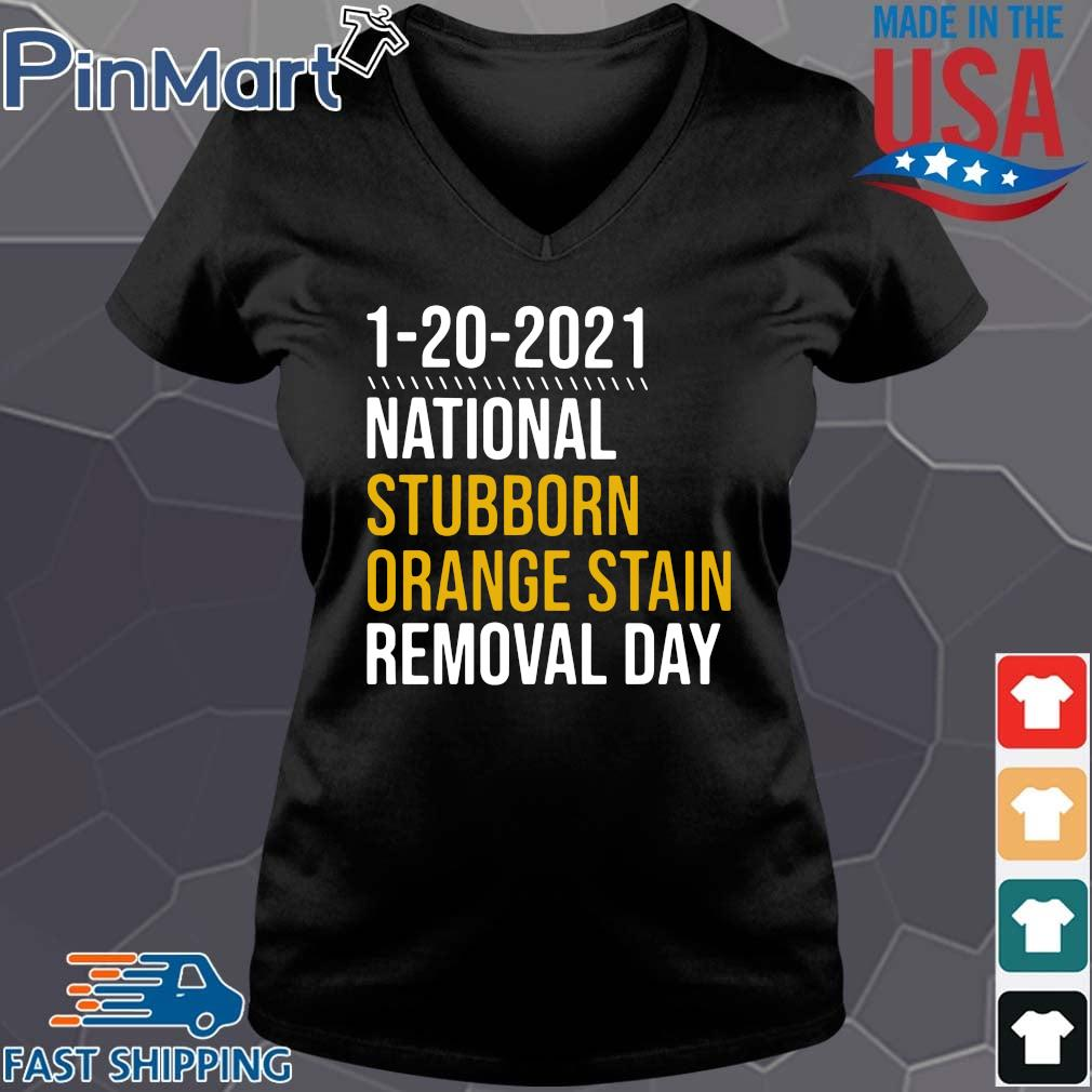 1 20 2021 national stubborn orange stain removal day s Vneck den