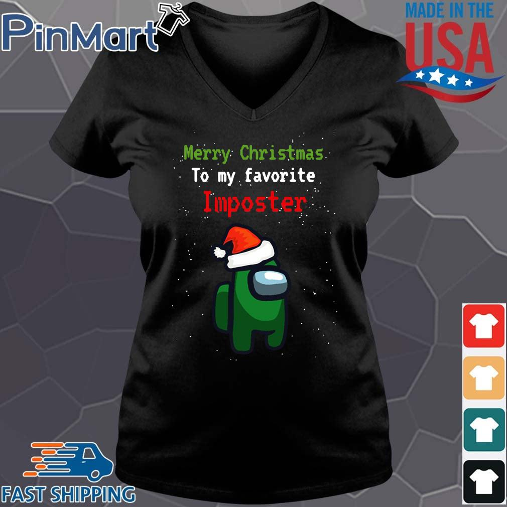 Among Us Merry Christmas to my favorite Imposter Christmas sweater Vneck den