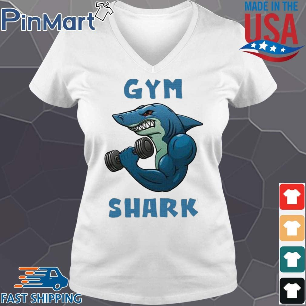 Shark Gym 2020 Shirt V-neck trang