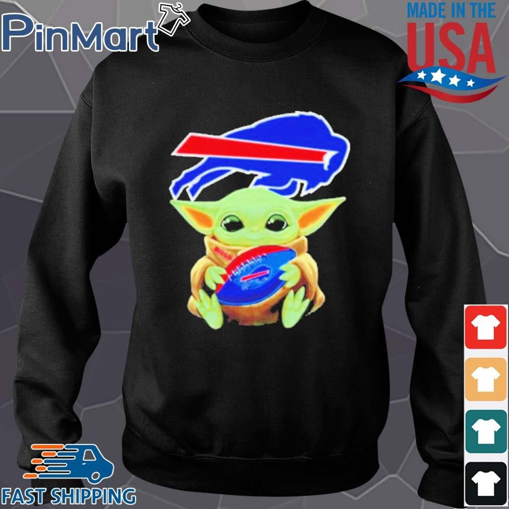 Baby Yoda hug Buffalo Bills shirt