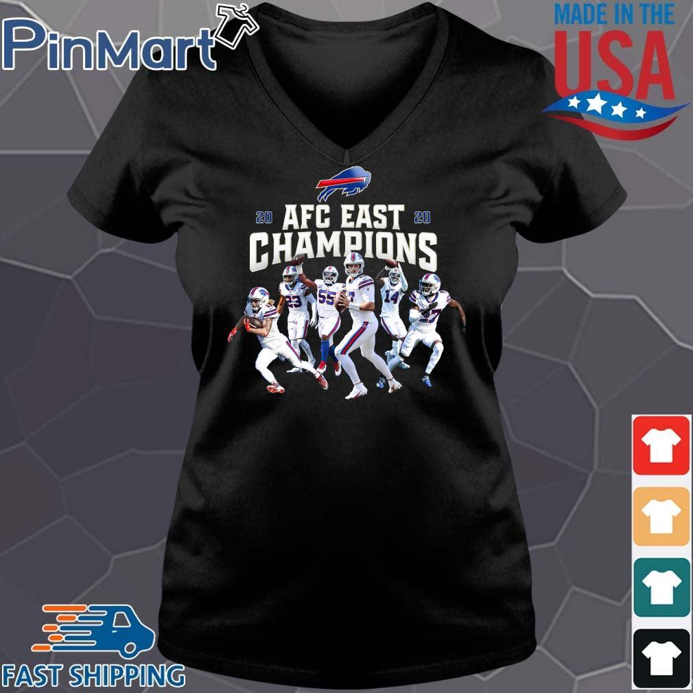 Buffalo Bills Players 2020 AFC East Champions s Vneck den